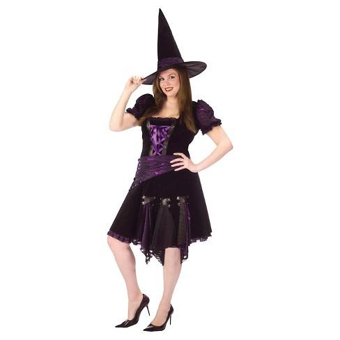 362be344127 Women s Plus Size Punk Witch Costume Purple 2X   Target