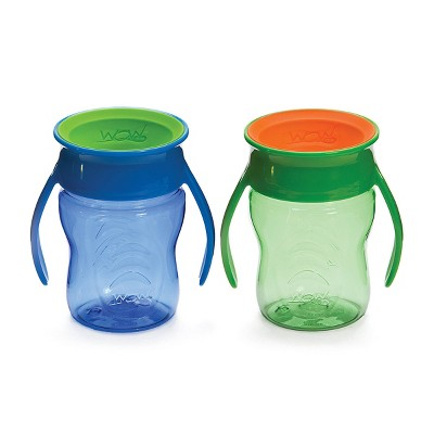 WOW Tritan Kids' Cup - Blue/Green 2pk/14oz