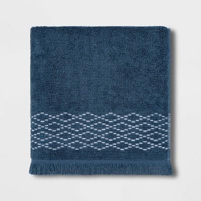 Diamond Weave Bath Towel Blue - Threshold™
