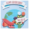 Papyrus World Traveler Graduation Card with Dimensional Attachments - image 3 of 4