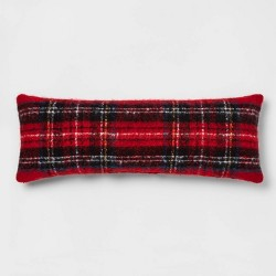 Tartan Plaid Throw Pillow Red - Threshold™