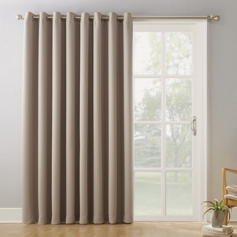 kenneth extra wide blackout curtain panel 84 x100 sun zero target. Black Bedroom Furniture Sets. Home Design Ideas