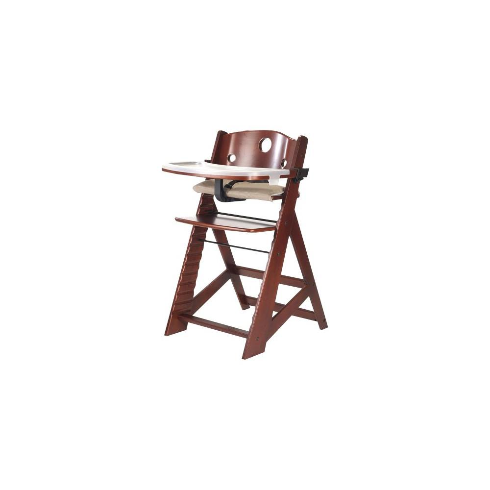 Keekaroo High Chair with Tray - Mahogany (Brown)