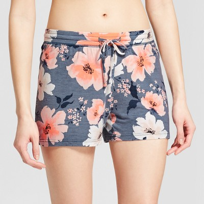 Women's Floral Print Total Comfort Pajama Shorts - Gilligan & O'Malley™ Blue S
