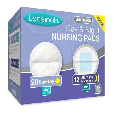 Lansinoh Day & Night Multipack Breast Pads - White