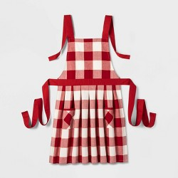 Adult Buffalo Check Apron Red - Threshold™