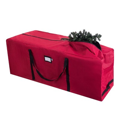 Elf Stor Elf Stor Premium Red Rolling Christmas Tree Storage Duffel Bag for 9' Disassembled Tree