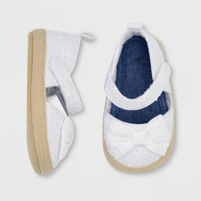 4c513ada43da Baby Girls  Crib Shoes - Just One You® made by carter s White ...