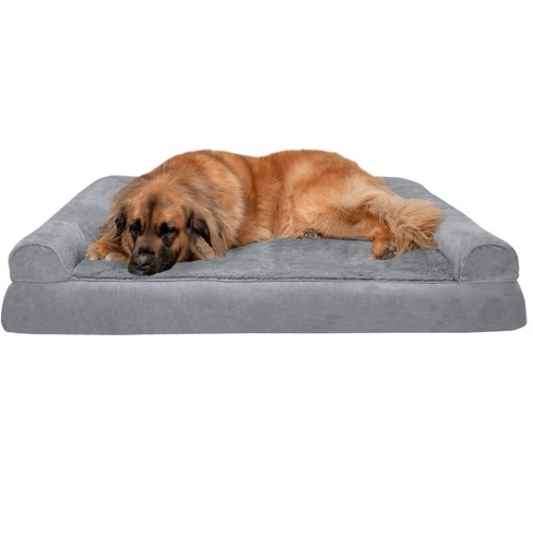 Furhaven Plush Suede Orthopedic Sofa Dog Bed Jumbo Plus Gray Target