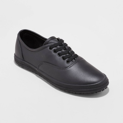 Women's Miracle Non Slip Service Shoe Lace up - Mossimo Supply Co.™ Black 6 - image 1 of 1