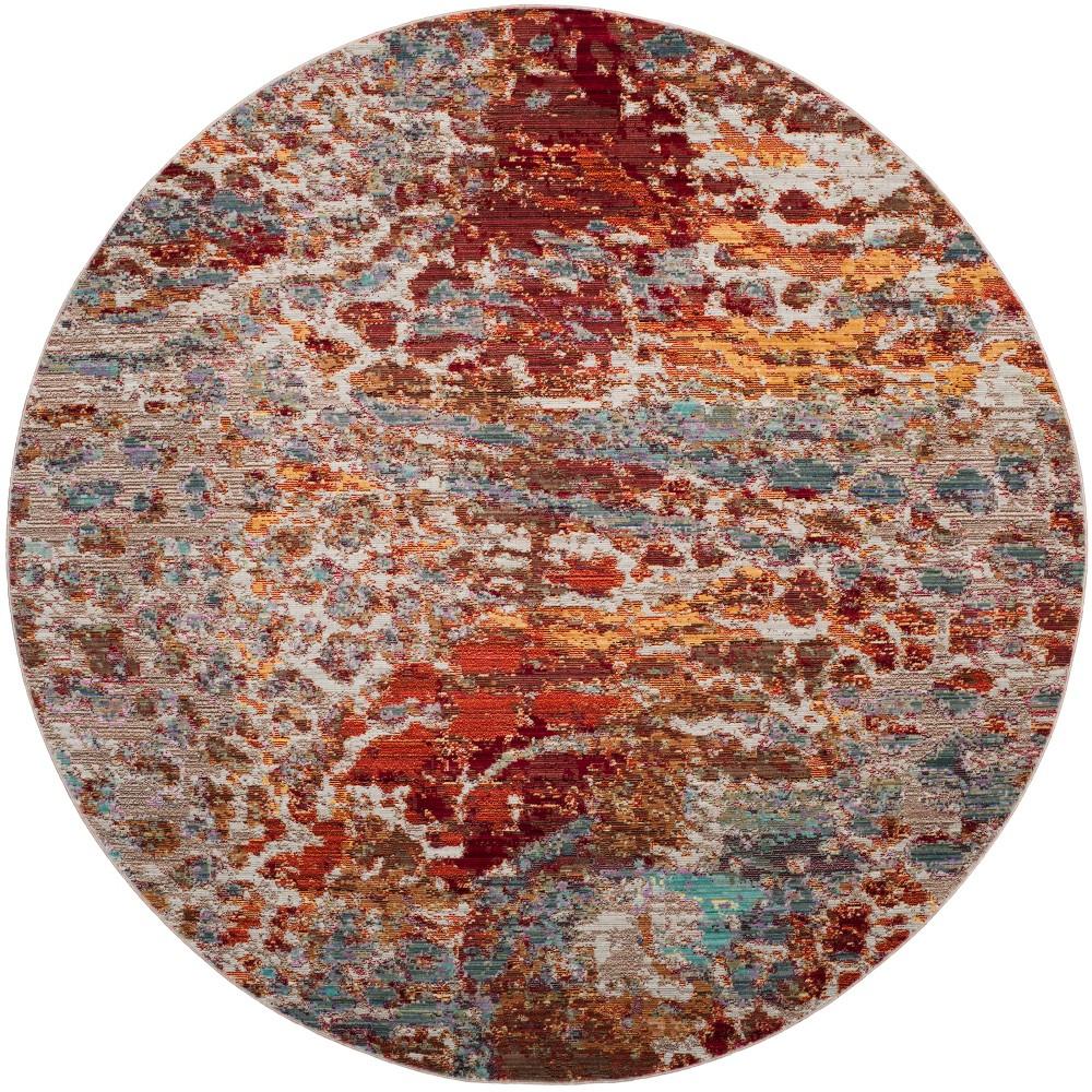 6'7 Fleck Loomed Round Area Rug - Safavieh, Multicolored