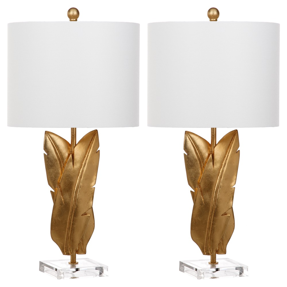 Image of Aerin Gold Wings Table Lamp Set of 2 - Safavieh