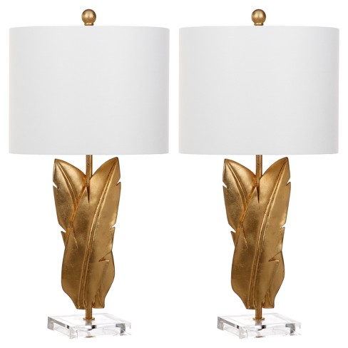Aerin Gold Wings Table Lamp Set of 2 - Safavieh - image 1 of 3