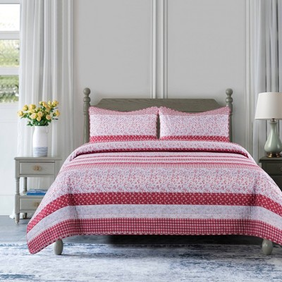 Stripe Reversible Quilt Set - Country Living