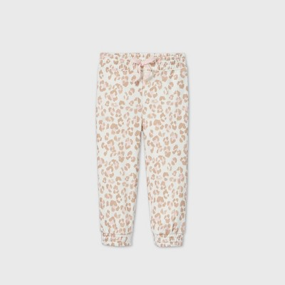 Grayson Mini Toddler Girls' Leopard Jogger Pants - Cream 18M