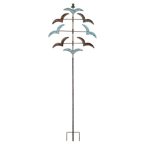 "55"" Outdoor Metal Pajaros Spinner Stake - Multi Color - Sunset Vista Designs - image 1 of 1"