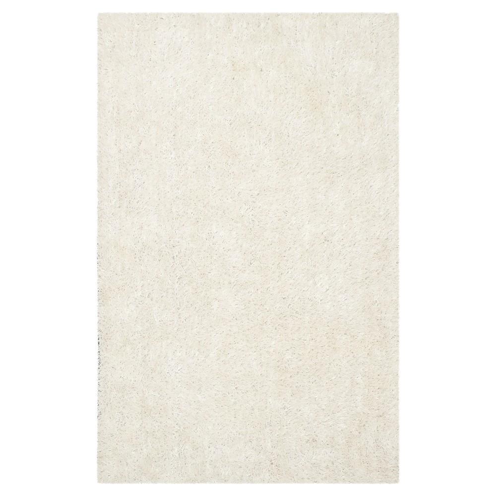 Off White Solid Shag/Flokati Tufted Area Rug - (4'X6') - Safavieh