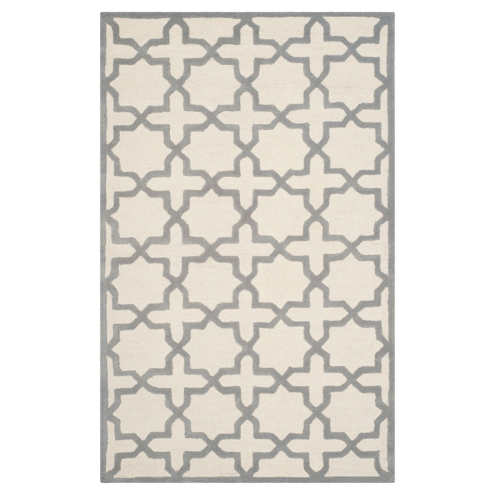 Marnie Texture Wool Rug - Ivory / Silver (4' X 6') - Safavieh, Ivory/Silver