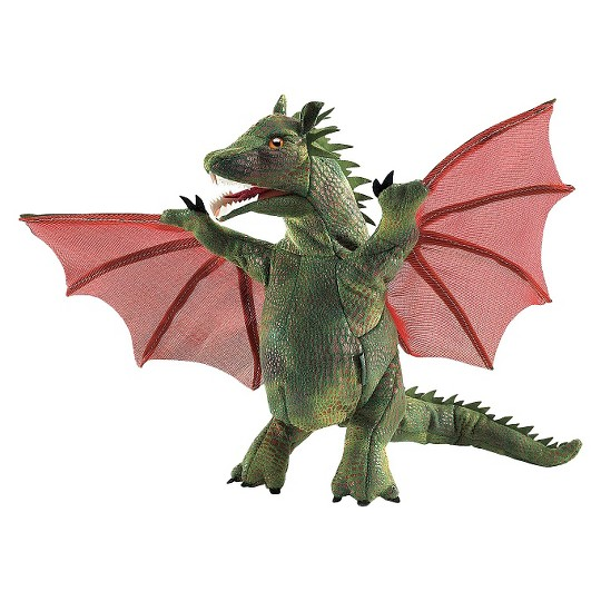 Folkmanis Winged Dragon Hand Puppet image number null