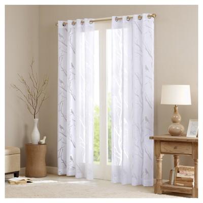 Layla Sheer Bird Window Curtain Panel