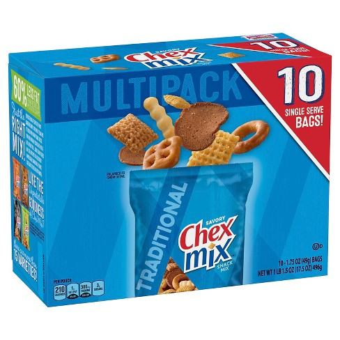 Chex Mix Traditional Snack Mix Bags - 17.5oz/10ct - image 1 of 3
