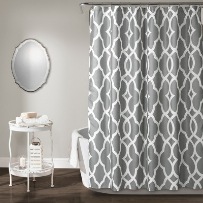 Connor Geo Shower Curtain Gray - Lush Decor