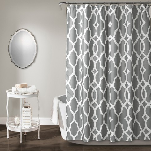 Connor Geo Shower Curtain Gray - Lush Decor - image 1 of 3