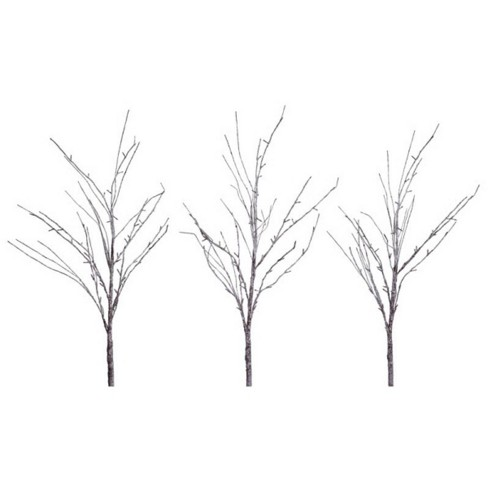 Melrose 3ct Prelit Led Artificial Snow Covered Branches 5 Clear Lights