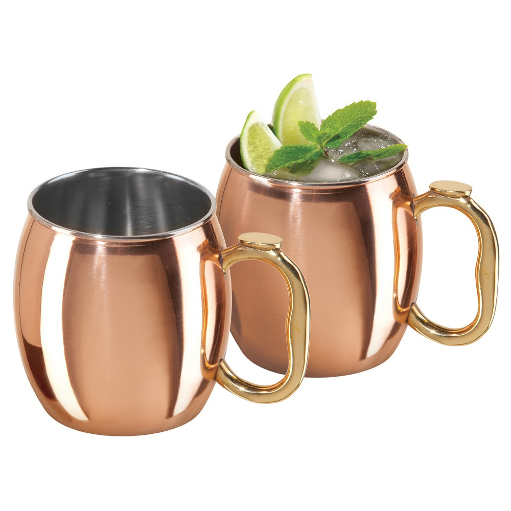 Image of Oggi 20oz Moscow Mule Mug - Copper (Brown) - Set of 2