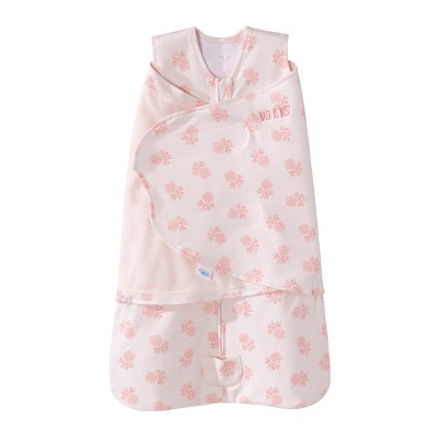 HALO Sleepsack 100% Cotton Swaddle Watercolor Rose Toss Blush Newborn