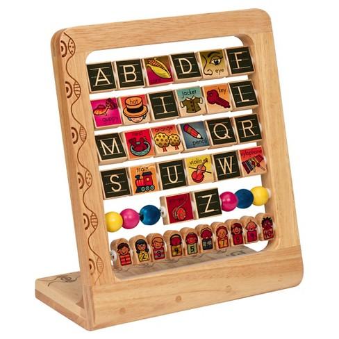 b ab3s wood alphabet abacus
