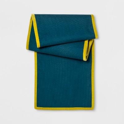 Teal Green Linen Table Runner   Opalhouse™