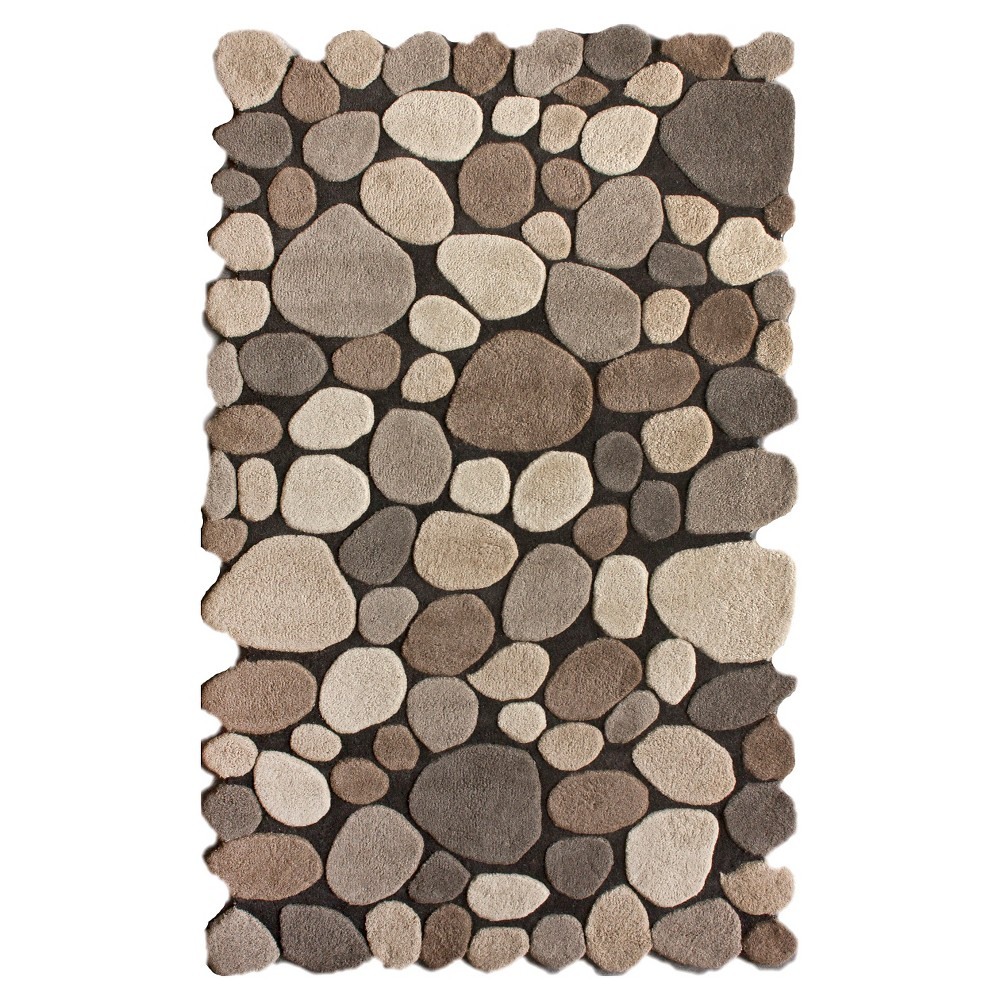 nuLOOM Hand Tufted Wool Pebbles Area Rug - Natural (7'6