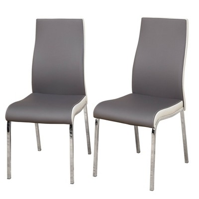 Set of 2 Nora Dining Chair Gray/White - Buylateral