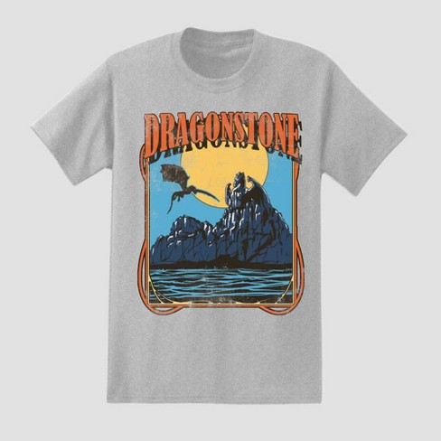 Men's Game of Thrones Dragonstone Short Sleeve Graphic T-Shirt - Gray - image 1 of 1