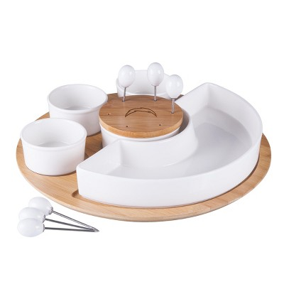 NFL Los Angeles Chargers Bamboo Symphony Appetizer Serving Set