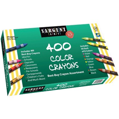 Sargent Art Crayons for Copy Paper, Assorted Colors, set of 400