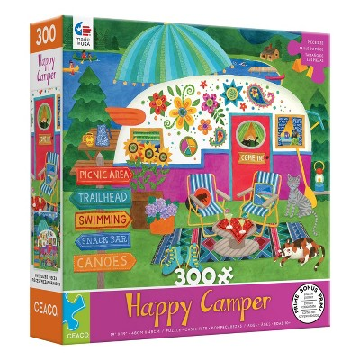 Ceaco Happy Camper: Lake Camper Oversized Jigsaw Puzzle - 300pc