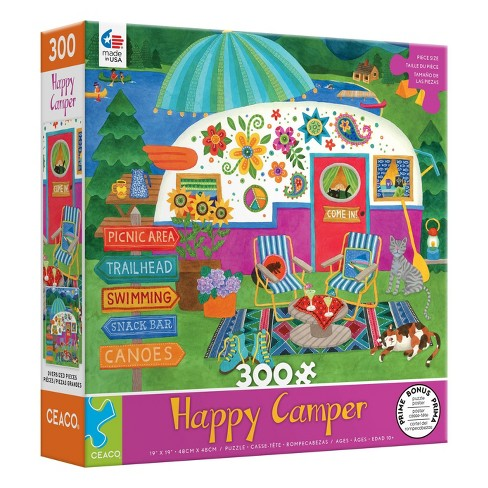 Ceaco Happy Camper: Lake Camper Oversized Jigsaw Puzzle - 300pc - image 1 of 3