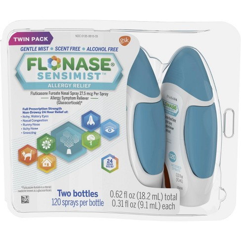 Flonase Sensimist 24 Hour Non Drowsy Allergy Relief Twin Pack