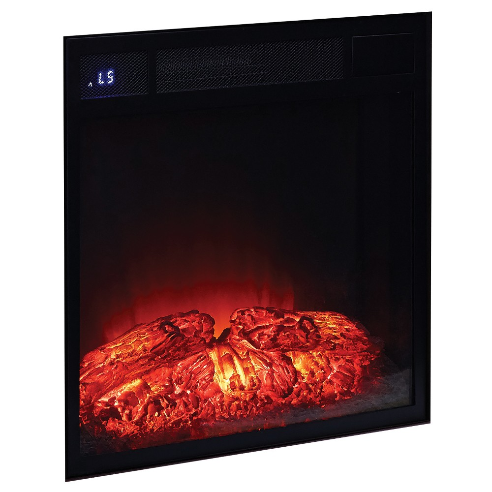 Metal Electrical Fireplace Insert Brown - Home Source Industries, Black