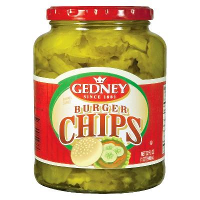 Gedney Pickles Burger Chips - 32oz