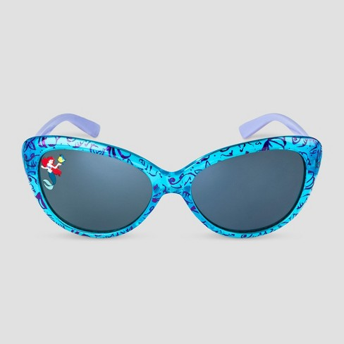 Girls' Disney Ariel Sunglasses - Blue - image 1 of 2