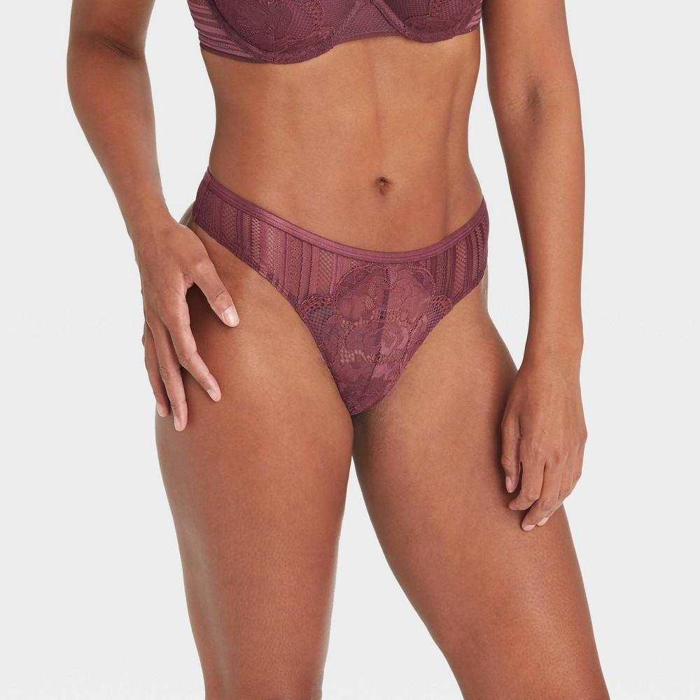 Women 39 S Lace Thong Auden 8482 Burgundy Xs