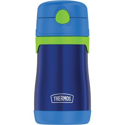 Thermos 10oz Stainless Steel Straw Bottle Blue