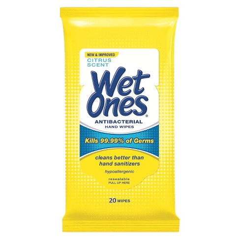 Wet Ones Antibacterial Hand Wipes Travel Pack - Citrus Scent - 20ct - image 1 of 3