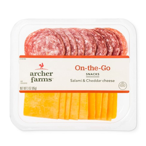 Salami & Cheddar Cheese On The Go Snacks - 3oz - Archer Farms™ - image 1 of 1