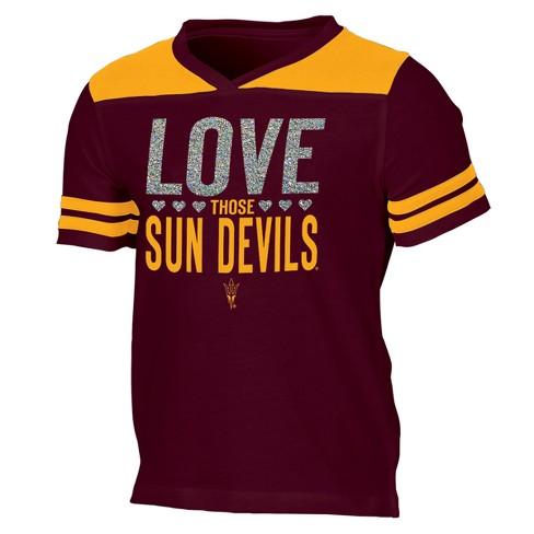 fb7bd24737f Arizona State Sun Devils Girls  Short Sleeve Team Love V-Neck T-Shirt