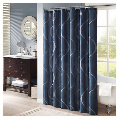 Fenice Taffeta Embroidered Shower Curtain