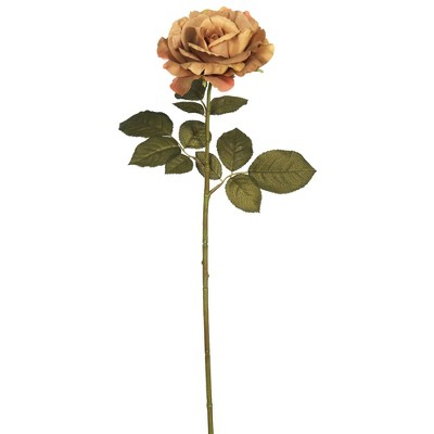 "Artificial Autumn French Rose (Pk/3) (26"") Light Brown - Vickerman"